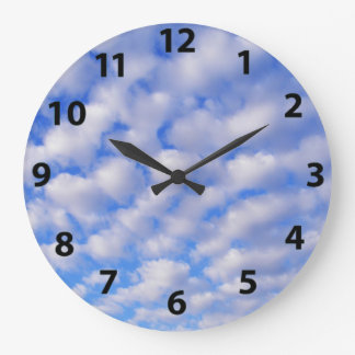 Cloudy Blue Sky Wall Clock