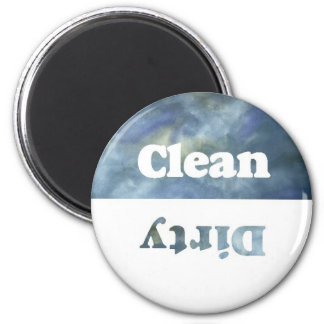 Cloudy Clean/Dirty Dishwasher Magnet