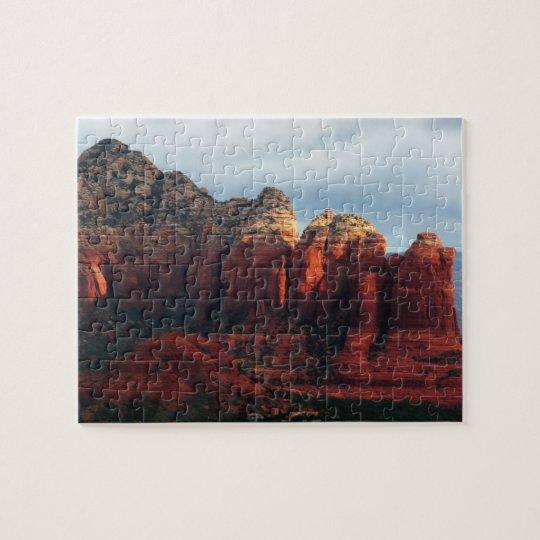 Cloudy Coffee Pot Rock in Sedona Arizona Jigsaw Puzzle
