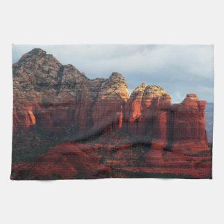 Cloudy Coffee Pot Rock in Sedona Arizona Kitchen Towel
