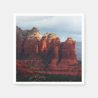 Cloudy Coffee Pot Rock in Sedona Arizona Paper Napkins
