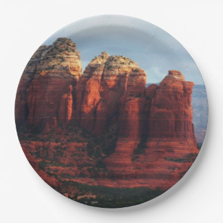 Cloudy Coffee Pot Rock in Sedona Arizona Paper Plate