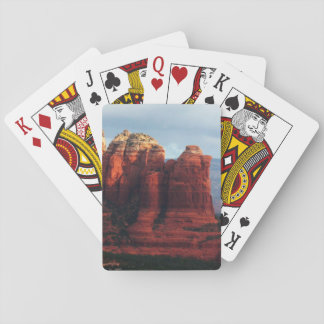 Cloudy Coffee Pot Rock in Sedona Arizona Playing Cards
