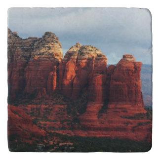Cloudy Coffee Pot Rock in Sedona Arizona Trivet