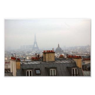 Cloudy day in Paris Photo Print
