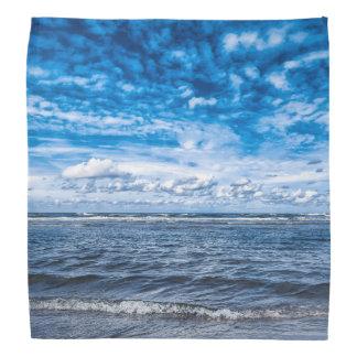 Cloudy day on the beach bandana