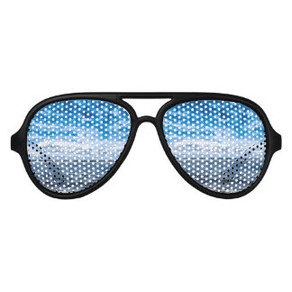 Cloudy day on the beach party sunglasses