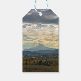 Cloudy Day over Mt Hood in Hood River OR Gift Tags