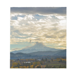Cloudy Day over Mt Hood in Hood River OR Notepad