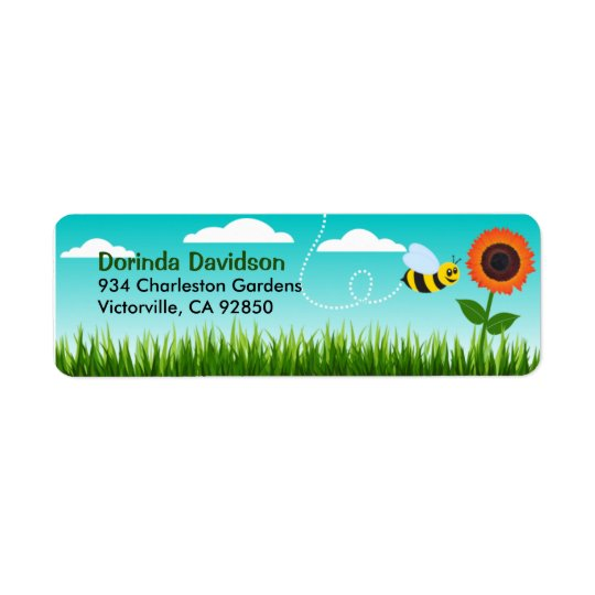 Cloudy Day Return Address Label