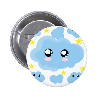 Cloudy dreams 2 inch round button