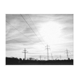 Cloudy Electric Sky Toile Tendue Sur Châssis