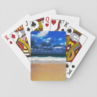 Cloudy Exotic Beach Playing Cards