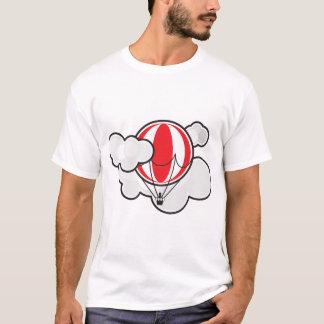 Cloudy Hot Air Balloon Mens T-Shirt