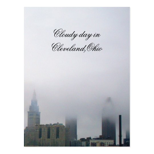 CLOUDY IN CLEVELAND,OHIO postcard