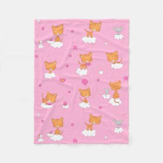 Cloudy Kitten Fleece Blanket