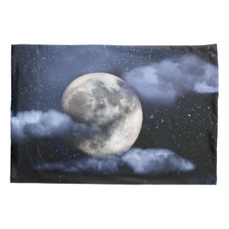 Cloudy Moon Pillowcase