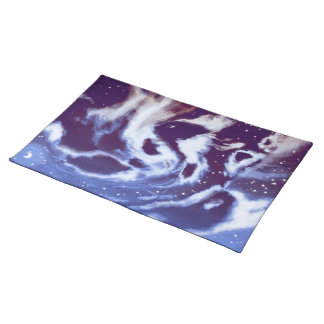 Cloudy Night Sky Pacemat Placemats