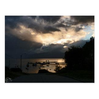 Cloudy Patagonian sunset Postcard