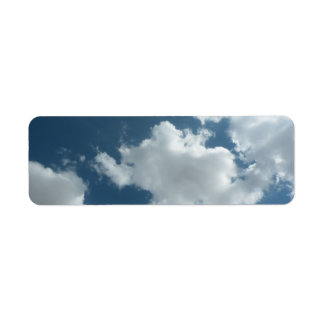 Cloudy Return Address Label
