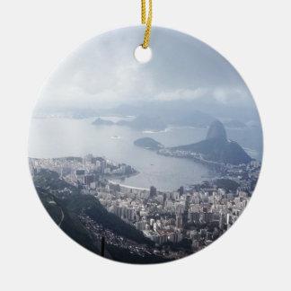 Cloudy Rio de Janeiro Ceramic Ornament