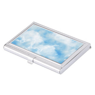 Cloudy Sky Business Card Holder