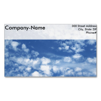 Cloudy Sky Business Card Magnet