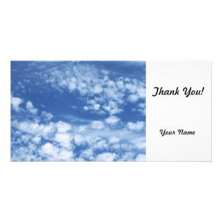 Cloudy Sky Customized Photo Card