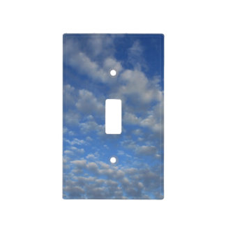 Cloudy sky light switch cover
