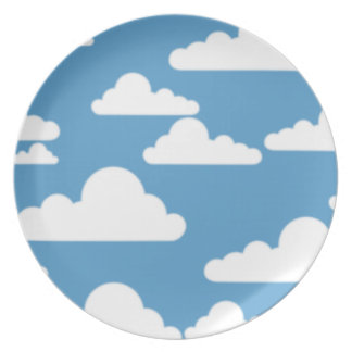 cloudy sky pattern plates