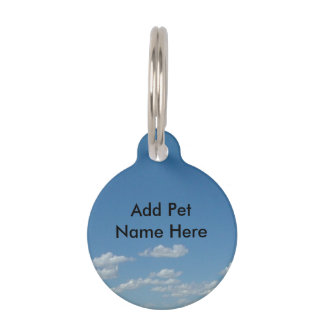 Cloudy Sky Pet Tag- small Pet ID Tag