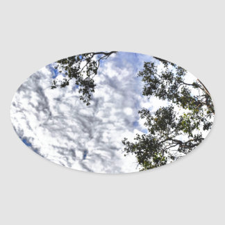 CLOUDY SKY QUEENSLAND AUSTRALIA OVAL STICKER