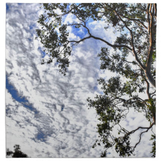 CLOUDY SKY QUEENSLAND AUSTRALIA PRINTED NAPKIN