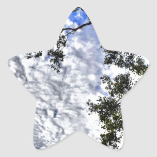 CLOUDY SKY QUEENSLAND AUSTRALIA STAR STICKER