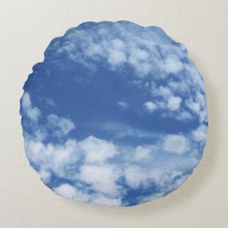 Cloudy Sky Round Pillow