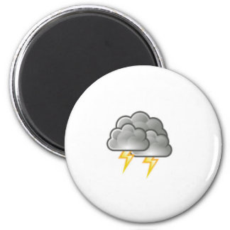 cloudy storm 2 inch round magnet