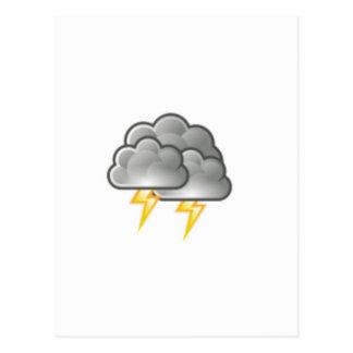 cloudy storm postcard