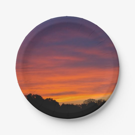 Cloudy Sunset Paper Plates 7 Inch Paper Plate