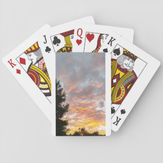 Cloudy sunset playing cards