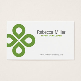CLOVER DESIGN in LIME GREEN Business Card