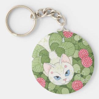 Clover Fairy Cat Keychain