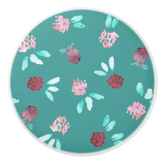 Clover Flowers Ceramic Knob
