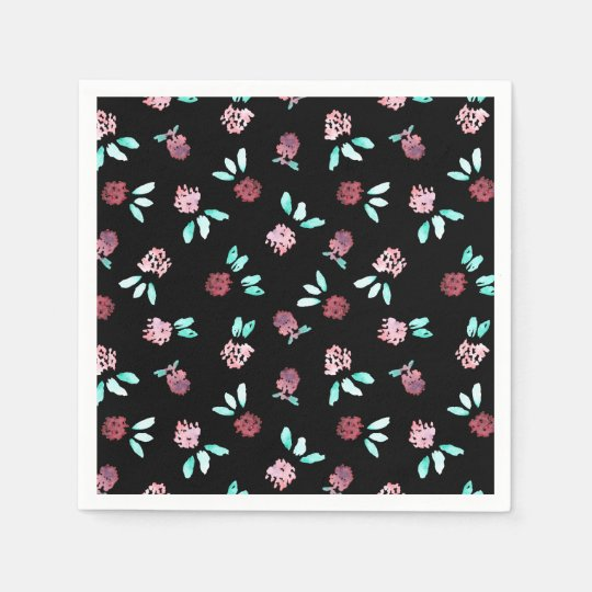 Clover Flowers Cocktail Paper Napkins