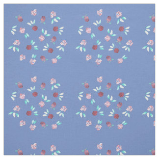 Clover Flowers Combed Cotton Fabric