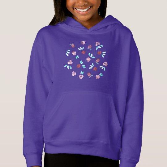 Clover Flowers Girls' Pullover Hoodie