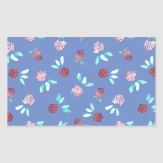 Clover Flowers Glossy Rectangle Sticker