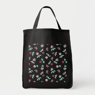 Clover Flowers Grocery Tote