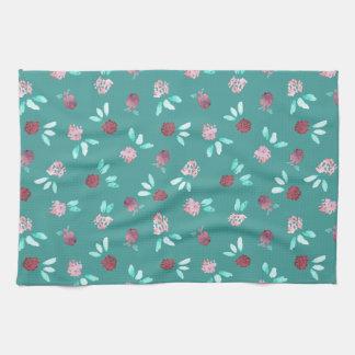 Clover Flowers Kitchen Towel