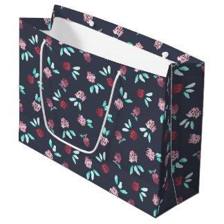 Clover Flowers Large Glossy Gift Bag
