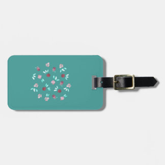 Clover Flowers Luggage Tag